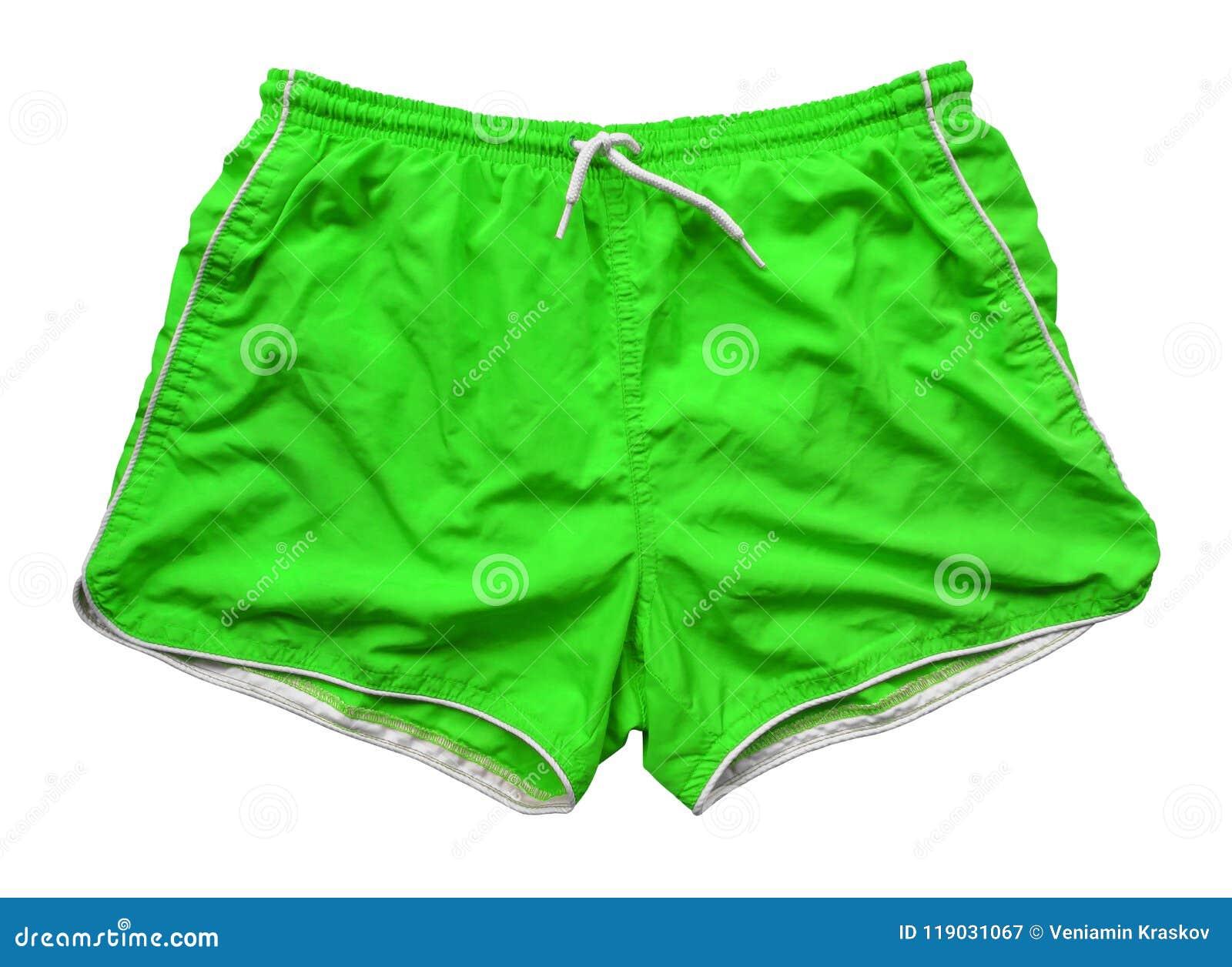 Pantalones Cortos De La Natacion Verde Imagen De Archivo Imagen De Verde Cortos 119031067