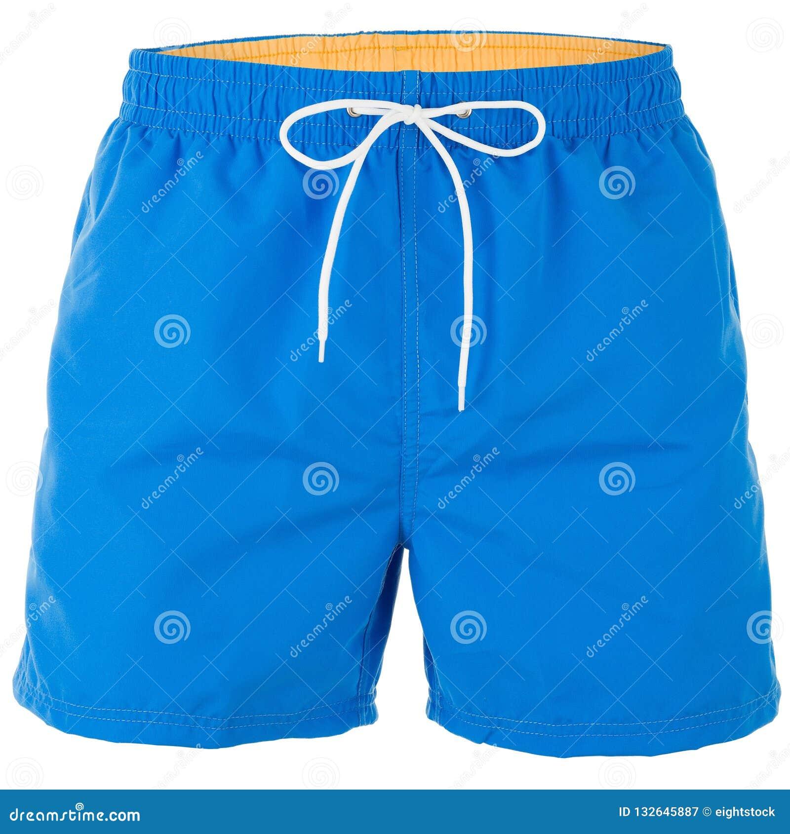 Pantalones Cortos De Los Hombres Azules Y Amarillos Para Nadar Imagen De Archivo Imagen De Nadar Cortos 132645887