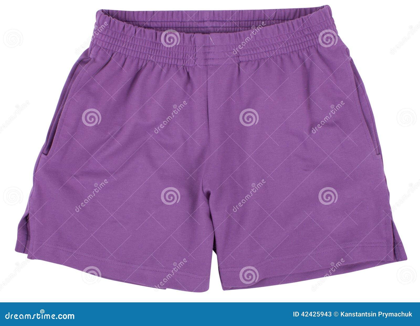 Pantalones cortos del deporte Aislado en el fondo blanco