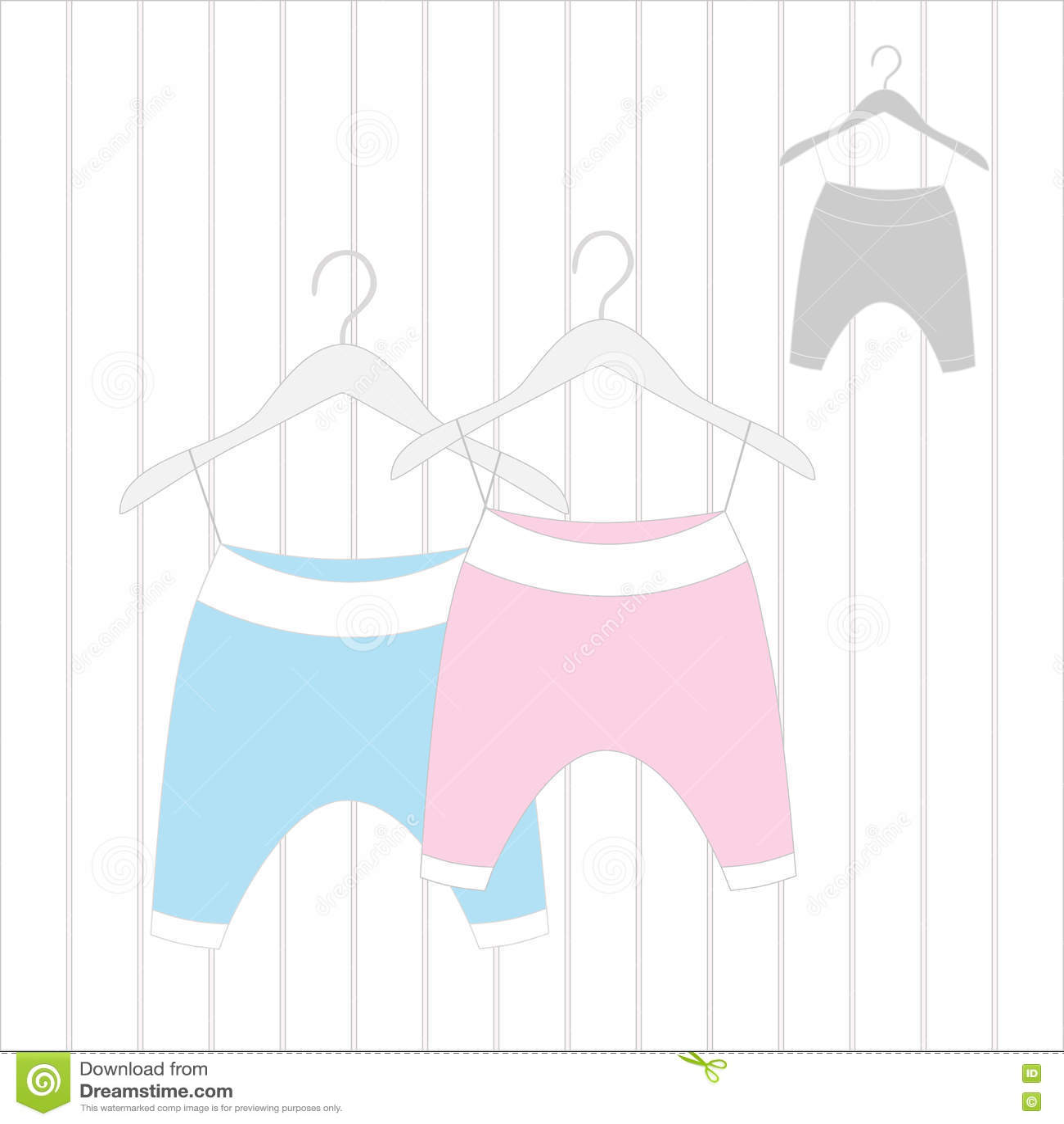 Pantalones Para Recien Nacido Ilustracion Del Vector Ilustracion De Cabritos Aviso 71962946