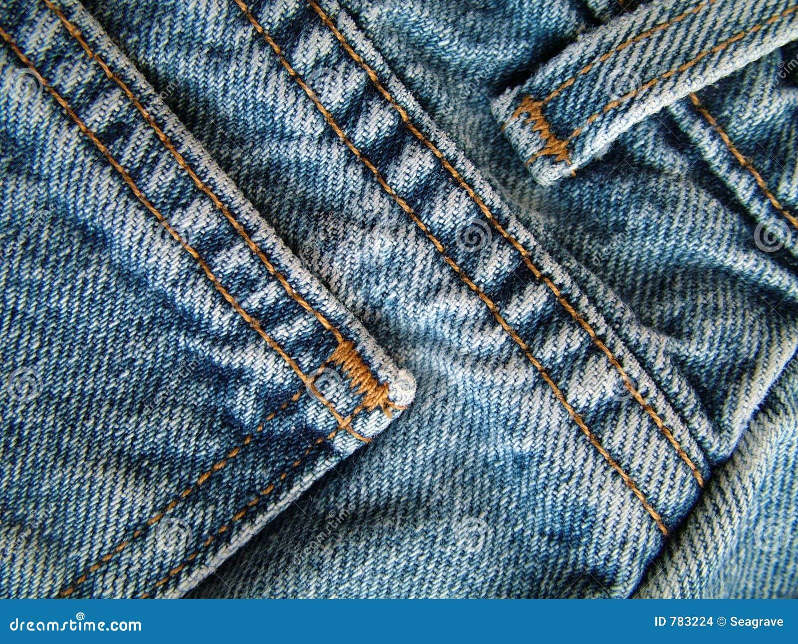 Pantalones vaqueros del dril de algodón.