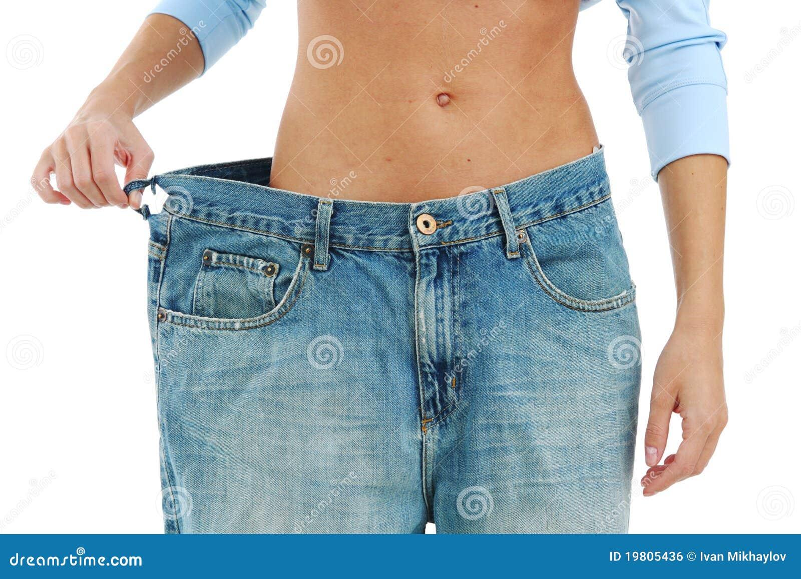 ac5f5175099 Pantalones Vaqueros Grandes Foto de archivo - Imagen de vientre ...