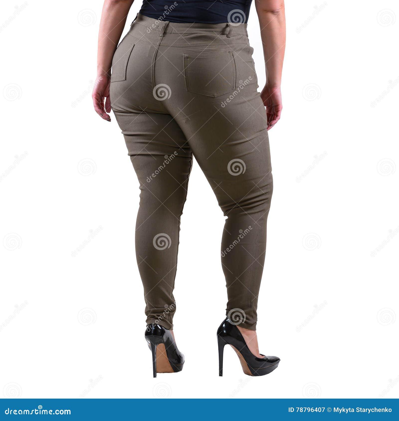 Pantaloni Usura Più Del Modello Xxl Classici Femminili Di Grigi I7Ybf6gvy