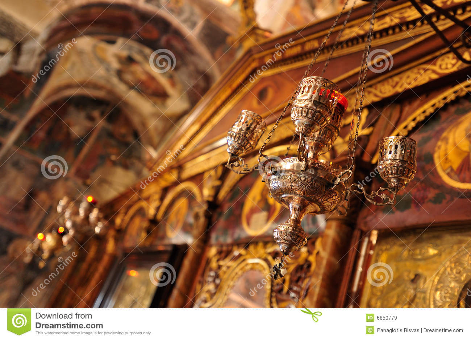 Pantanassa интерьера детали церков