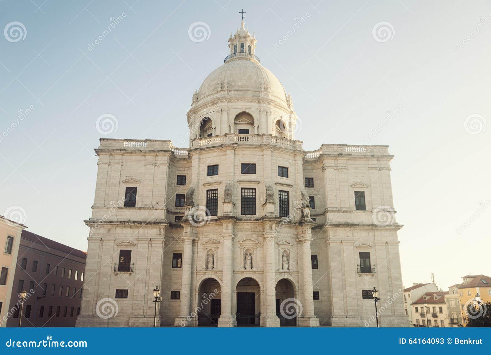 Panteón Nacional - Iglesia De Santa Engracia En Lisboa Foto de archivo - Imag...