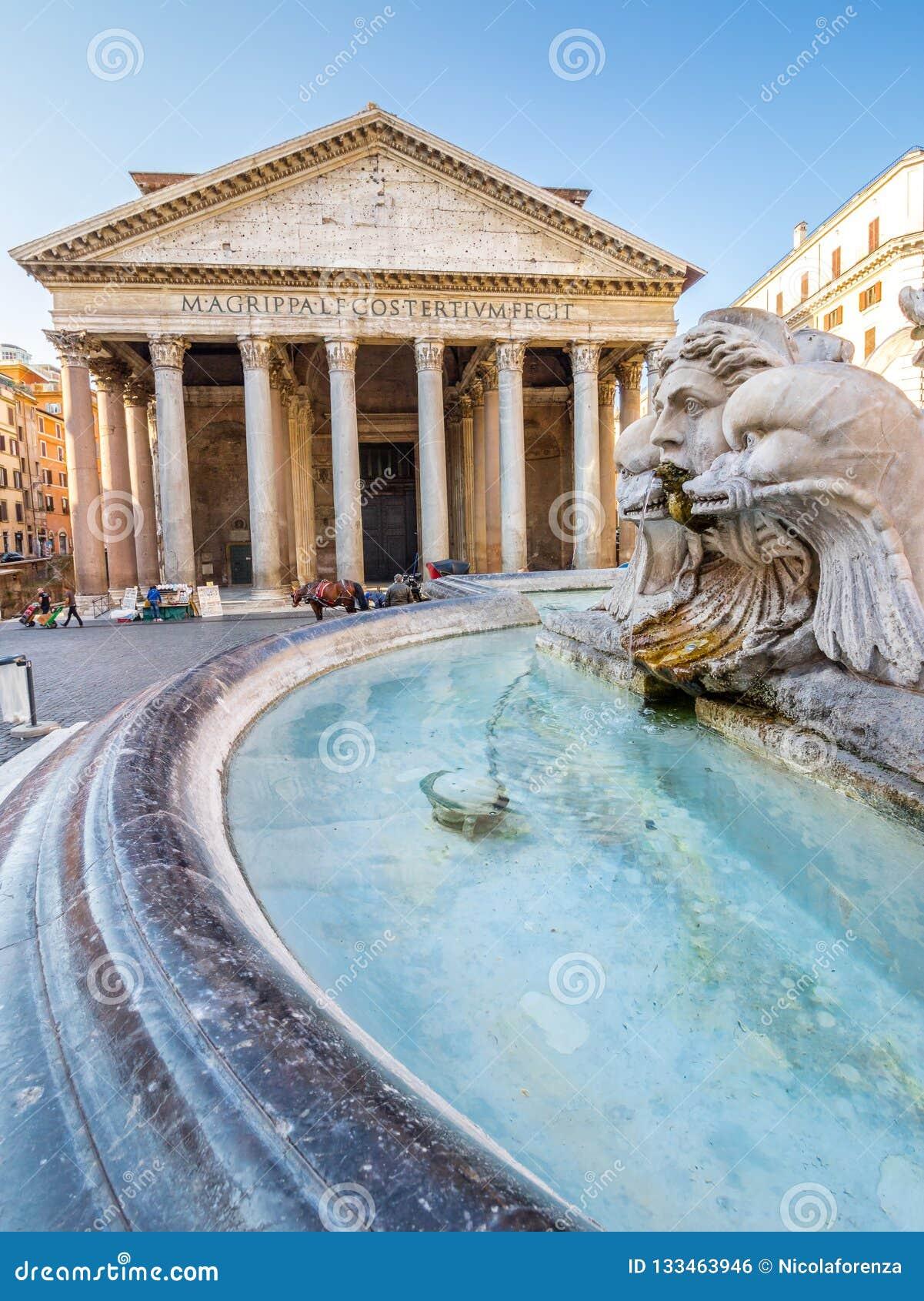 Panteon di mattina, Roma, Italia, Europa