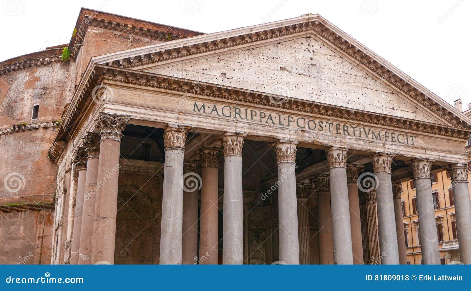 Panteon i Rome - den äldsta katolska kyrkan i staden