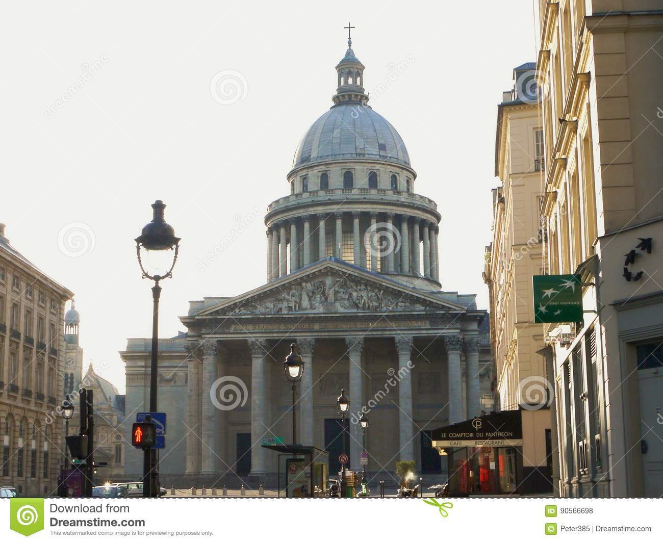 ff2b832f0 The Panthéon - Paris editorial stock photo. Image of monument - 90566698