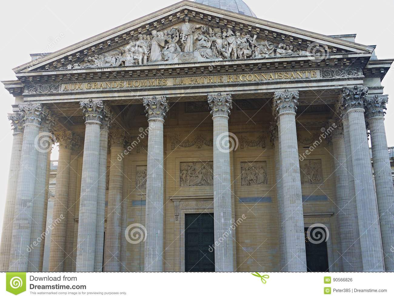 90091aaba The Panthéon - Paris editorial photo. Image of tomb