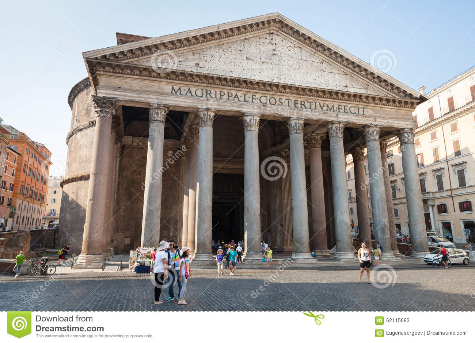 Pantheon ancient roman building facade editorial stock for Esterno pantheon