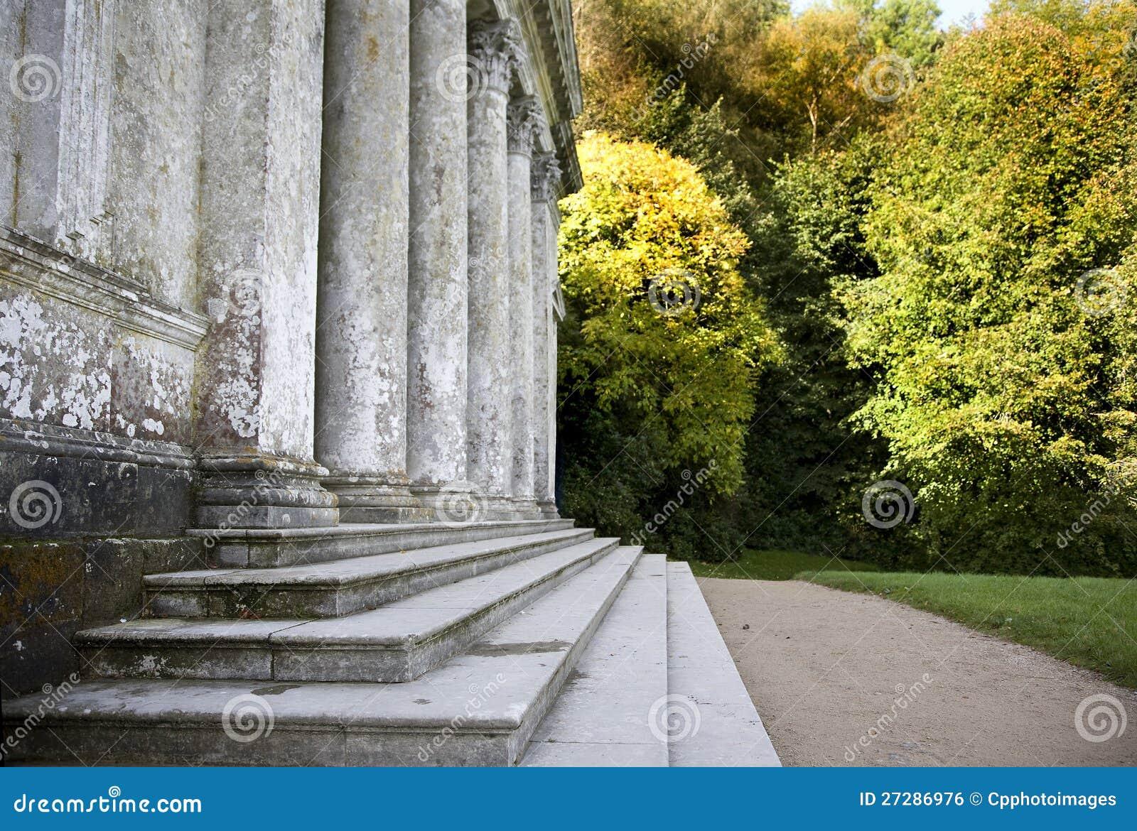 Pantheon i Stourhead trädgårdar, Wiltshire