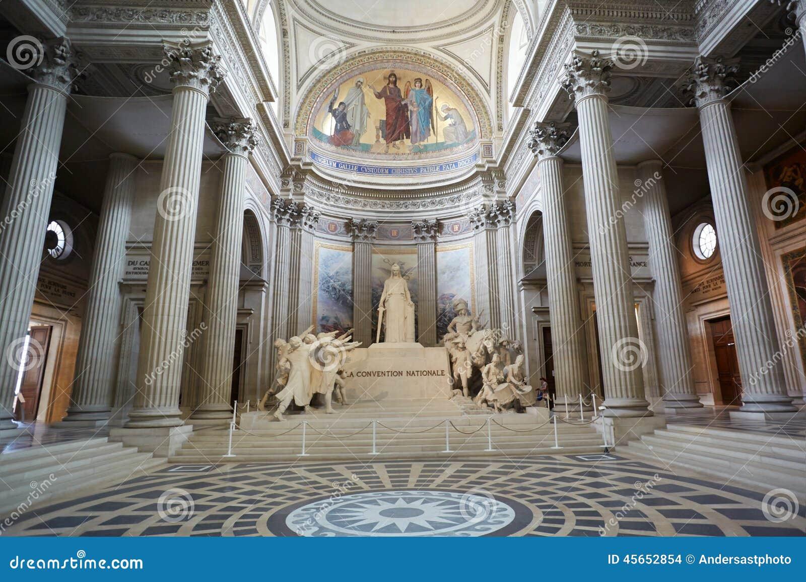 pantheon interior in paris france editorial stock image image 45652854. Black Bedroom Furniture Sets. Home Design Ideas