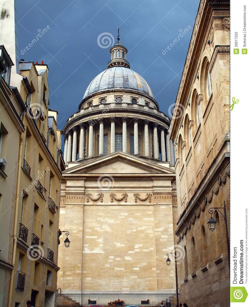 pantheon in paris city france famous places stock photo image of