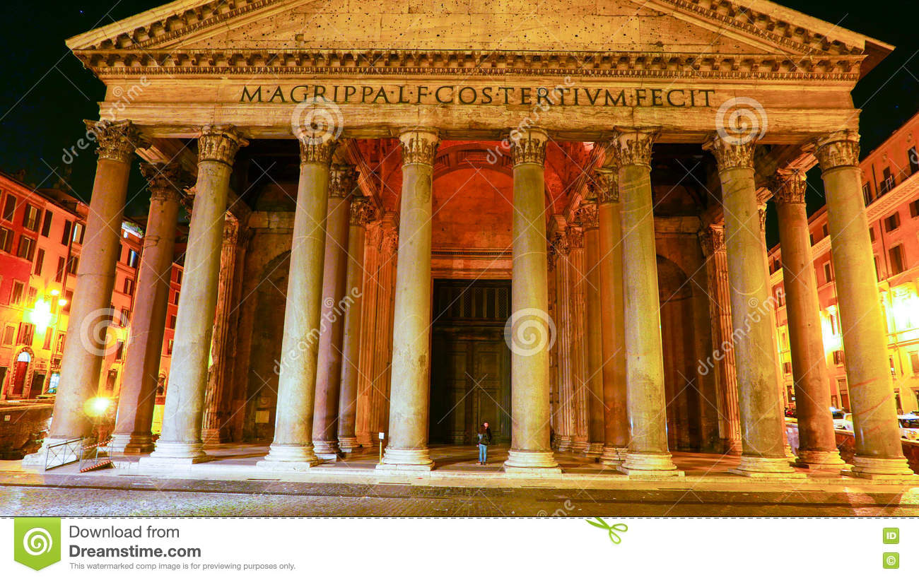 The Pantheon in Rome - famous landmark in the historic district