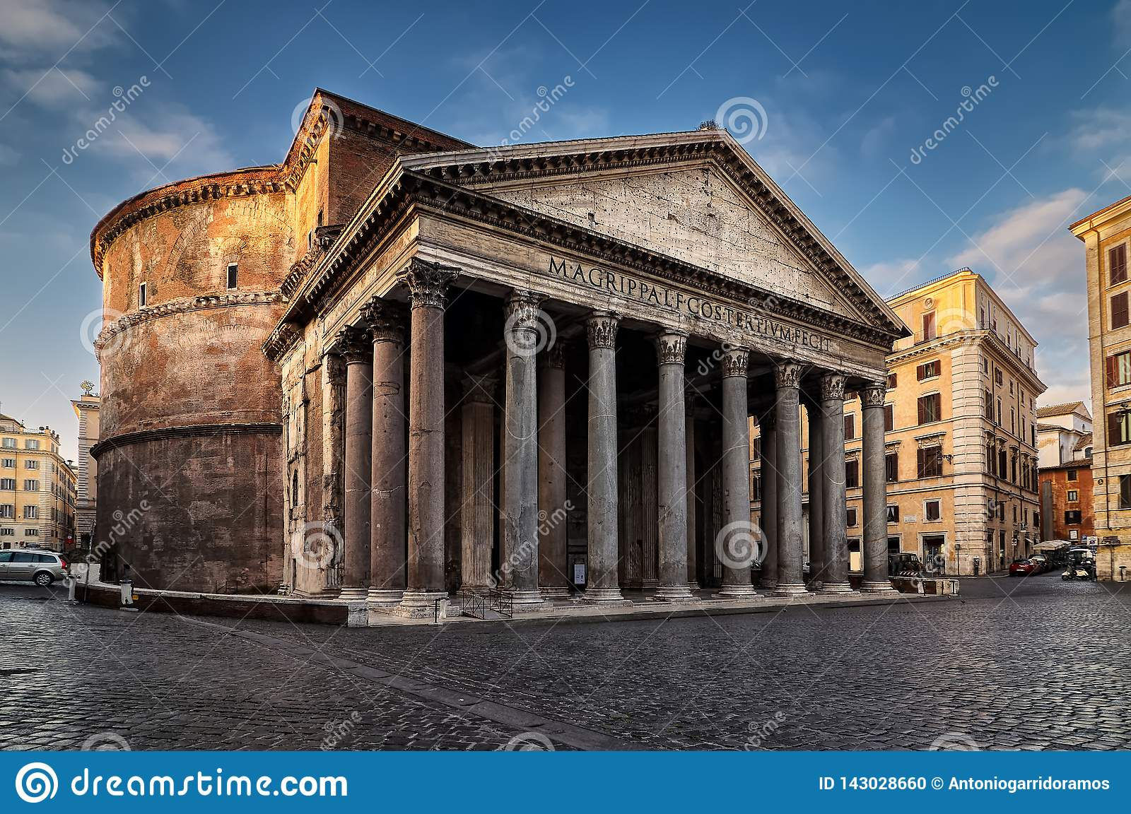 Pantheonvierkant in Rome, Italië