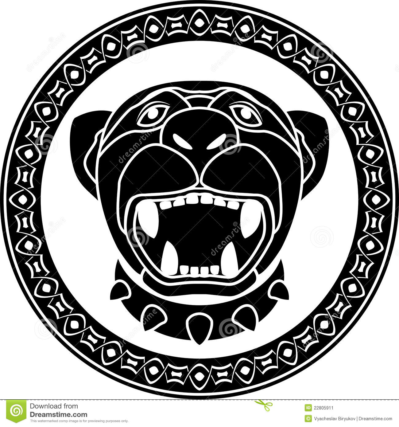 Panther Of Aztec Stock Vector Illustration Of Background 22805911