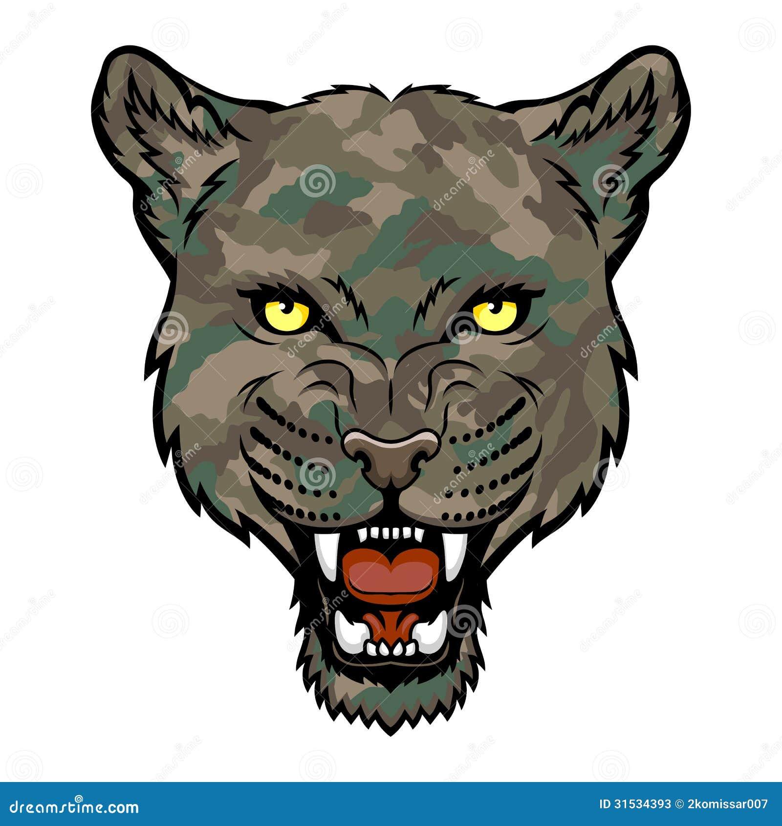 A Panther head logo   Panther Face