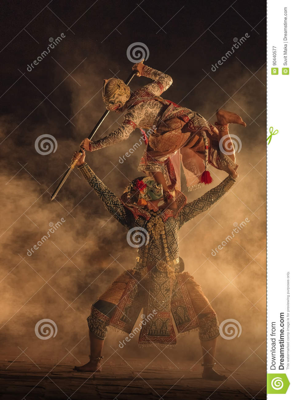 Pantomime Khon stock image  Image of khon, indonesia - 90440577