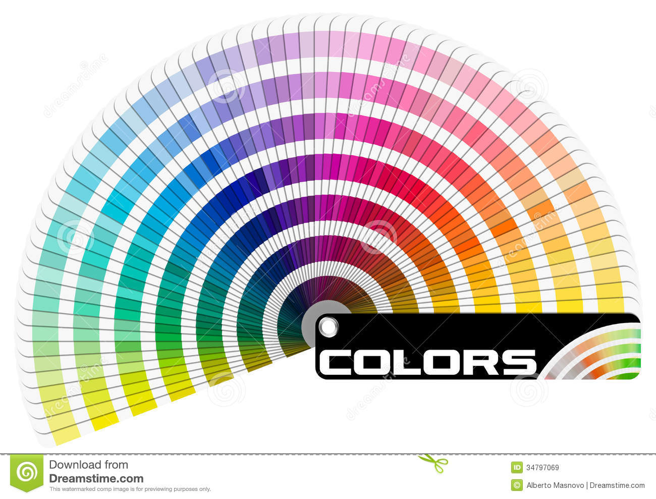 Pantone Color Palette Semicircle Royalty Free Stock Images