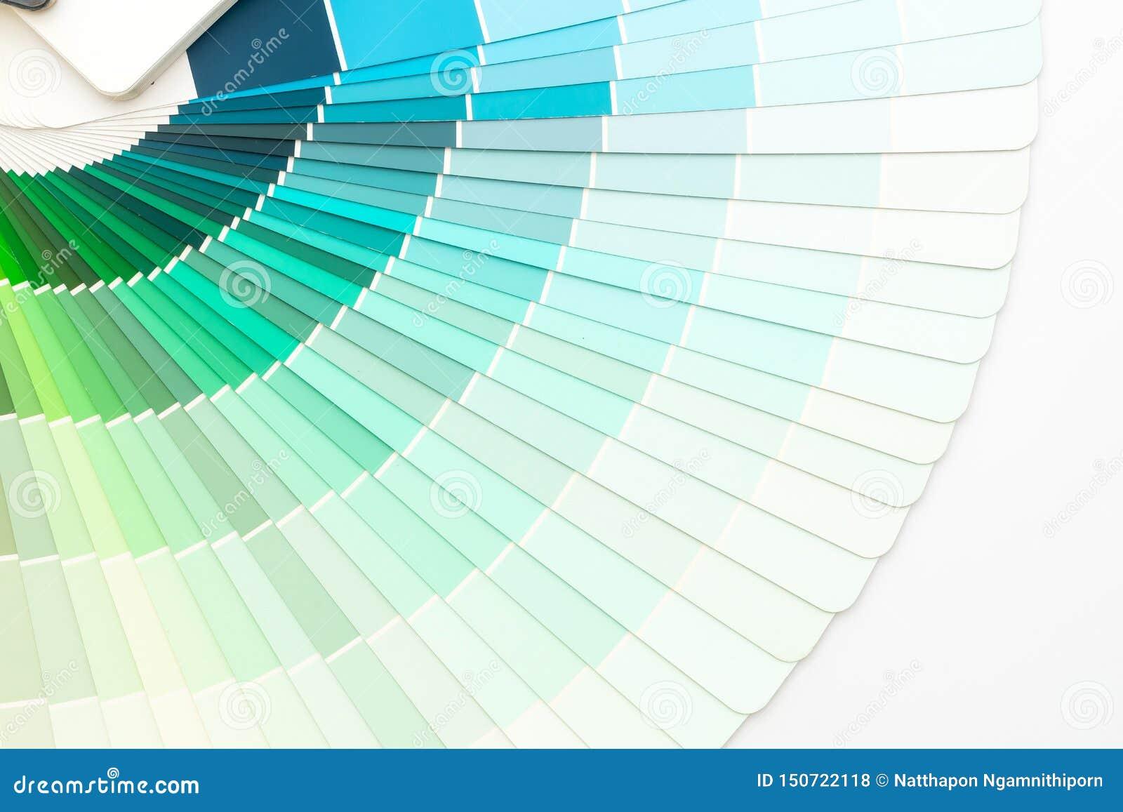 Pantone do catálogo das cores da amostra