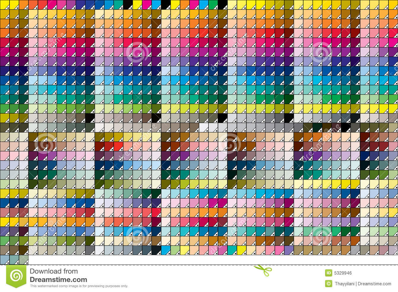 abbastanza Pantone Solid Coated stock vector. Image of colour, colorful - 5329946 ER78