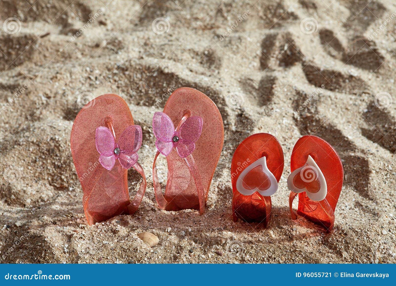 Pantoufles de plage en sable