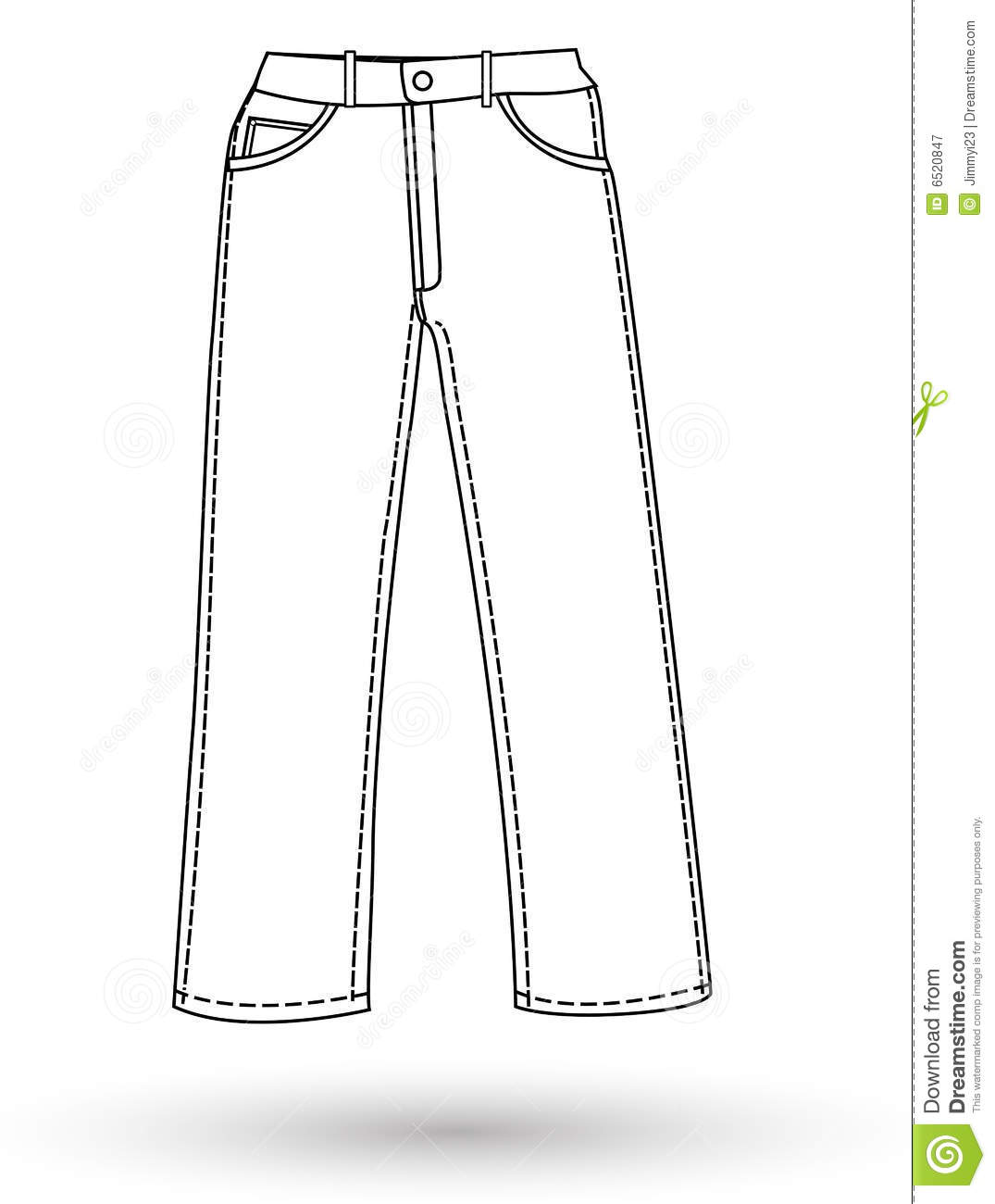 The pants layout stock illustration. Illustration of ...
