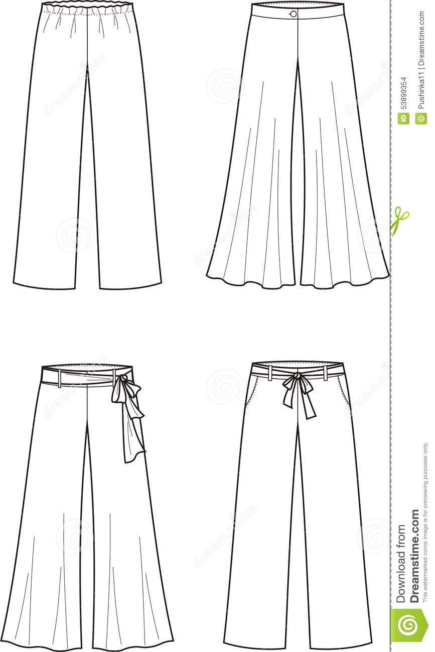 Simple Vector Illustration Of Women39s Business Pants
