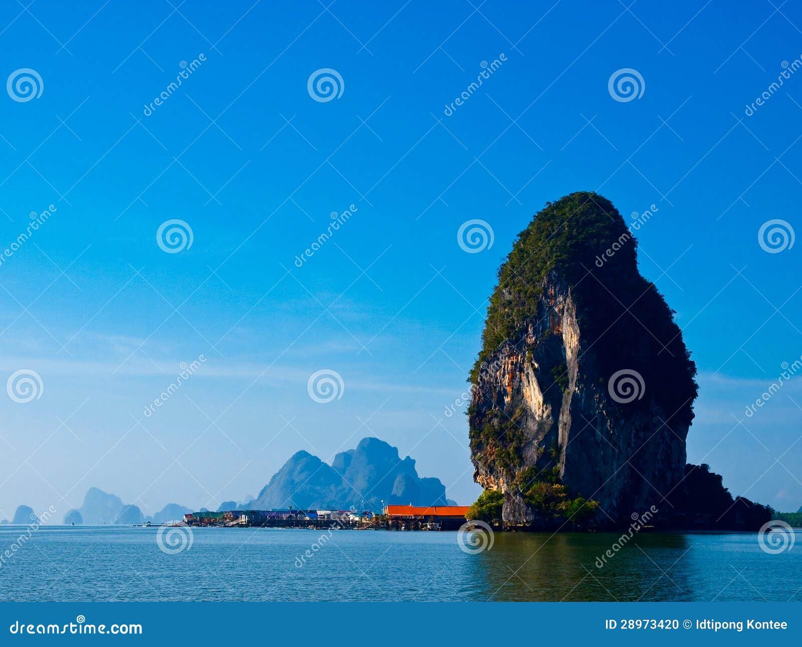 Panyi wyspa przy południe Tajlandia