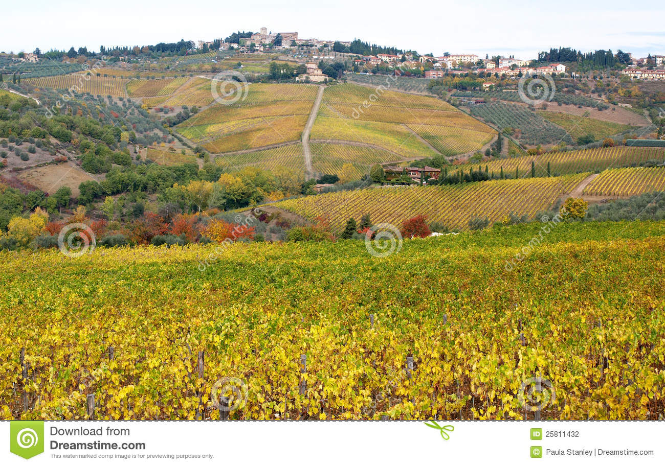 Panzano & Autumn Colours in Chianti Countryside