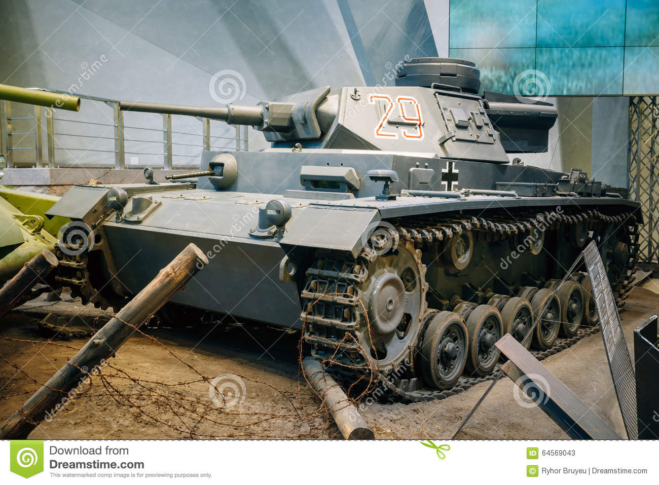 Panzer III Tank Used By Germany In World War II In Stock