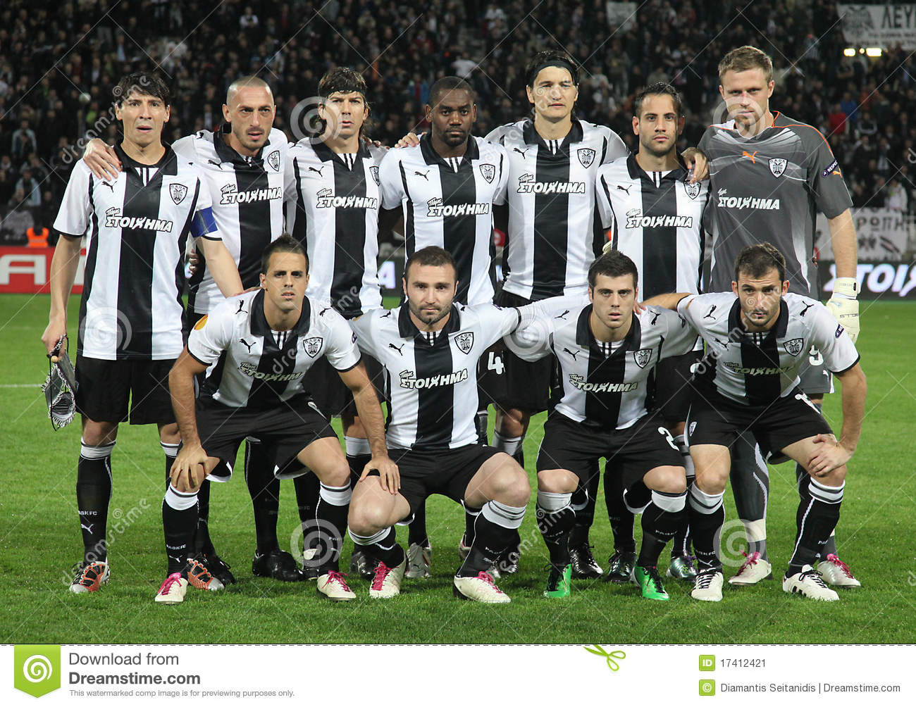 PAOK FC CLUB BRUGGE KV editorial photo. Image of field