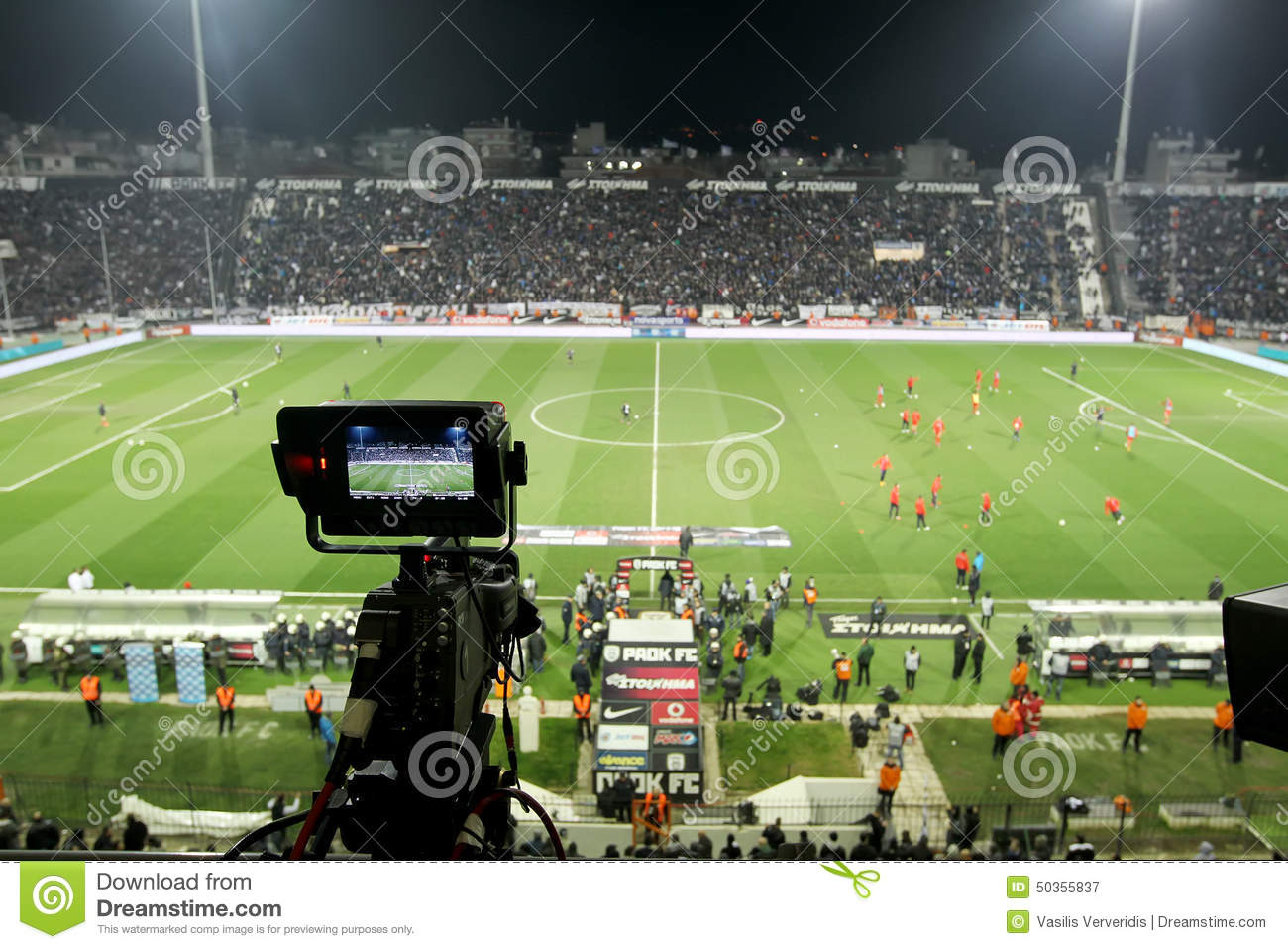 PAOK VS OLYMPIACOS GREEK SUPERLEAGUE Editorial Photography