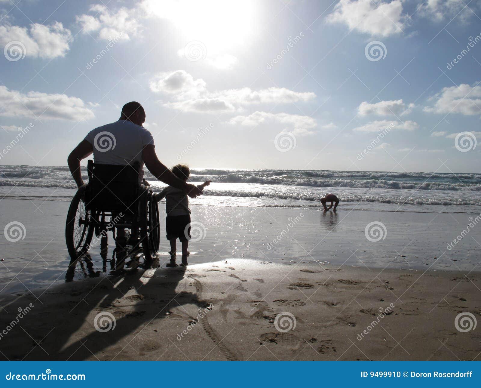 Papà andicappato con il bambino
