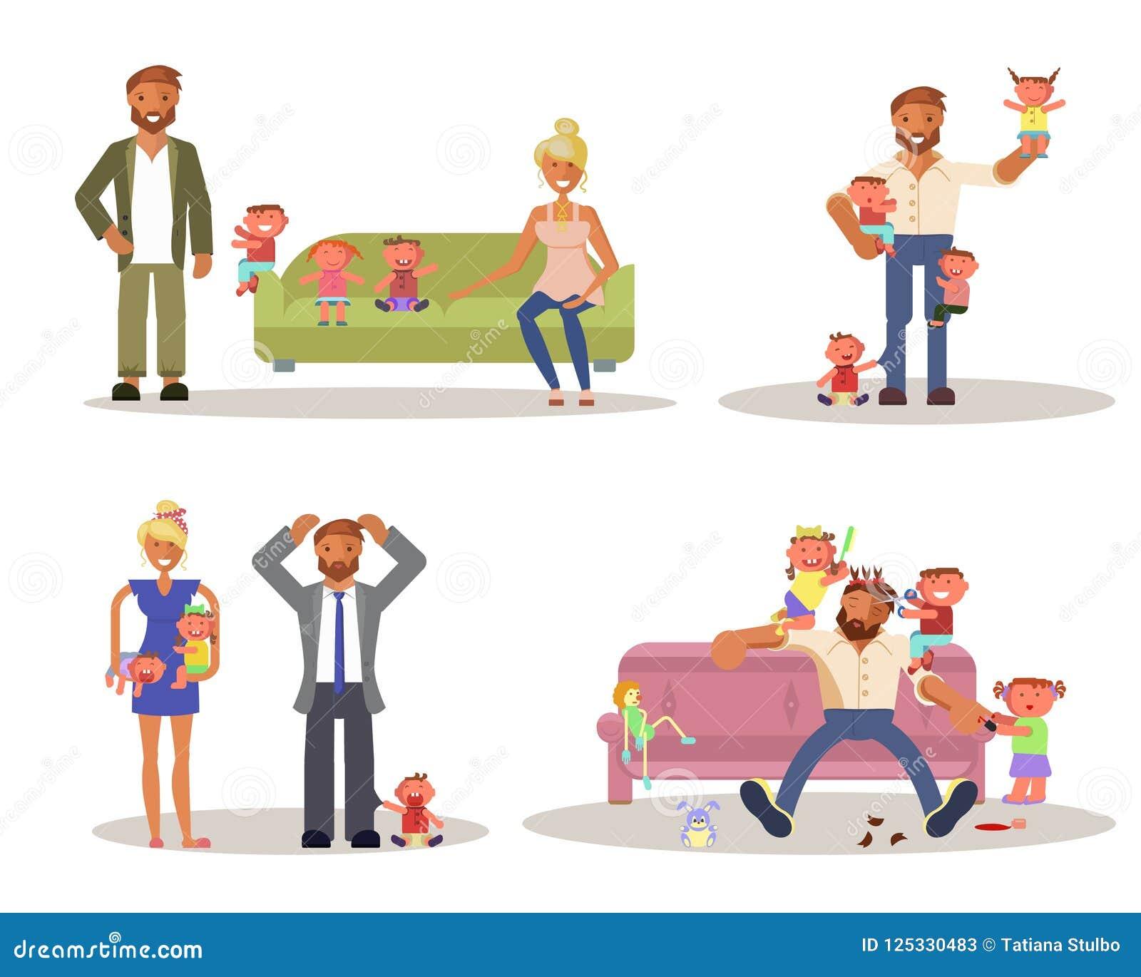 Papà con i bambini