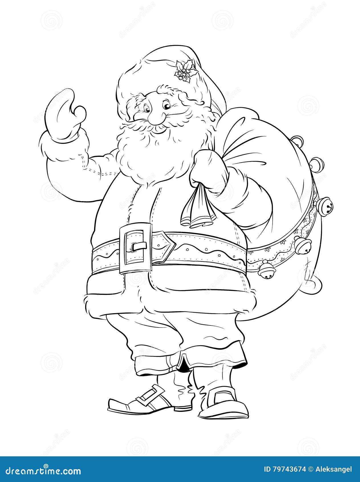 Papá Noel con el saco del regalo Navidad