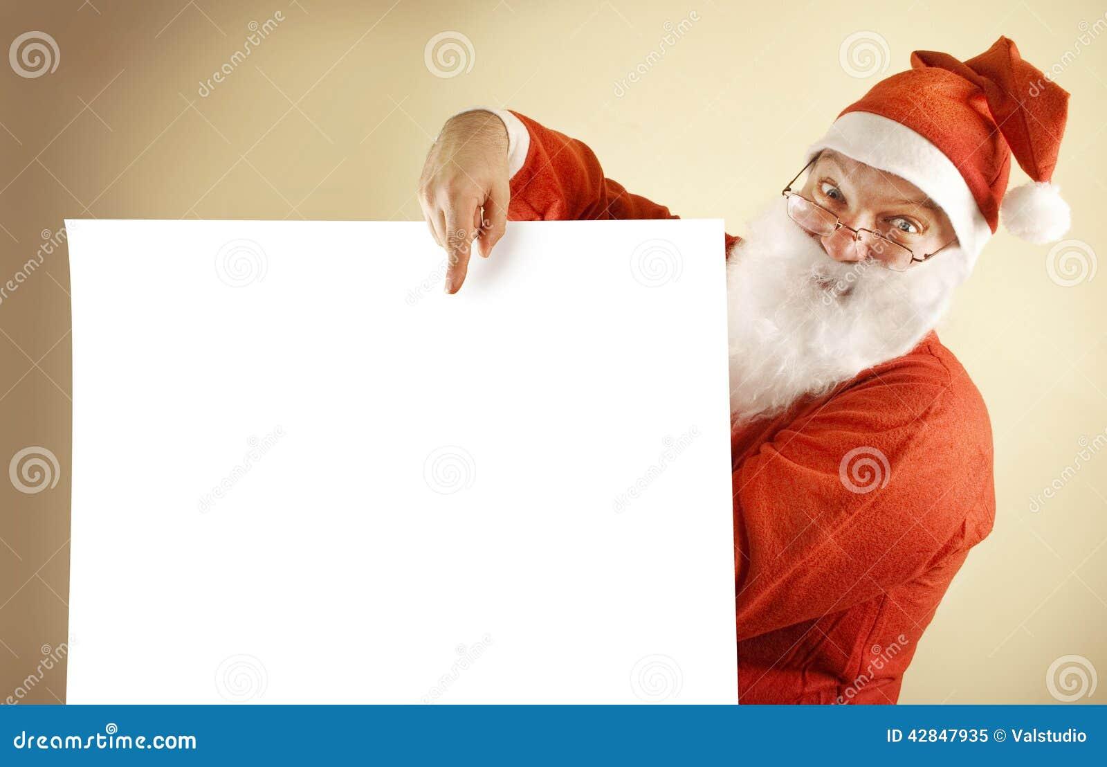 Papá Noel con la lista