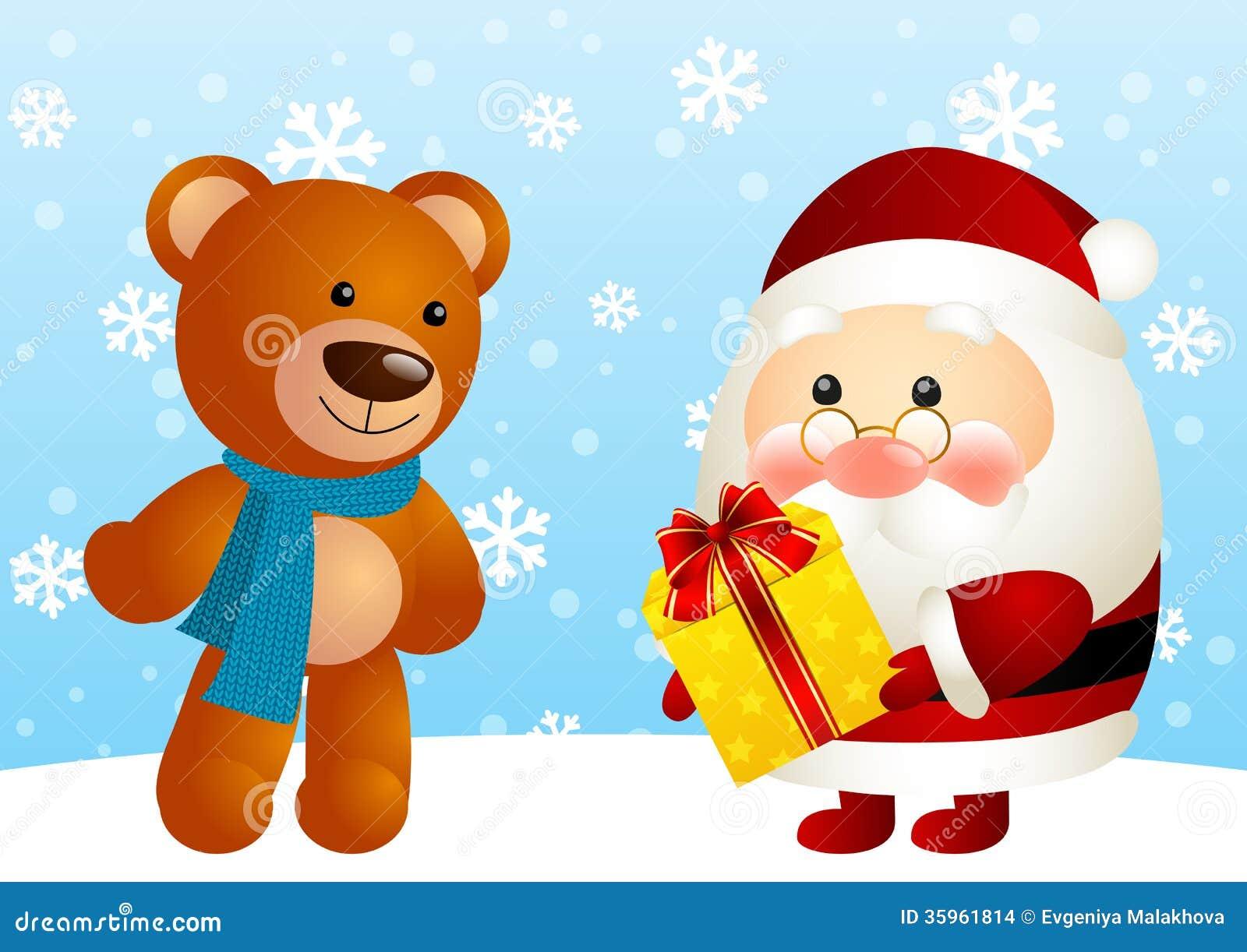 Papá Noel divertido y oso