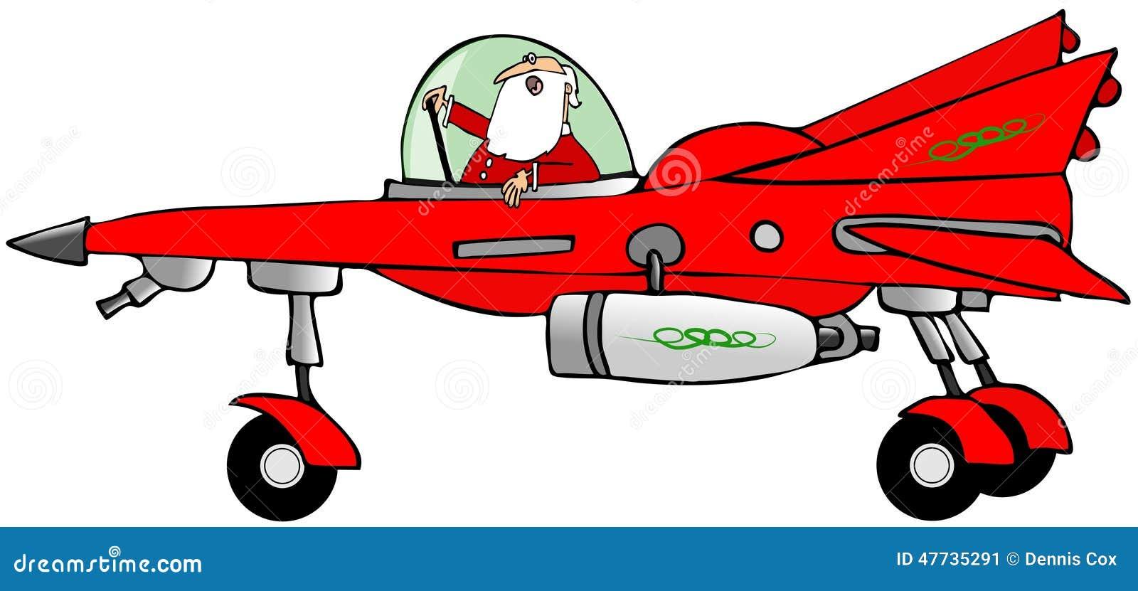 Papá Noel en un starfighter