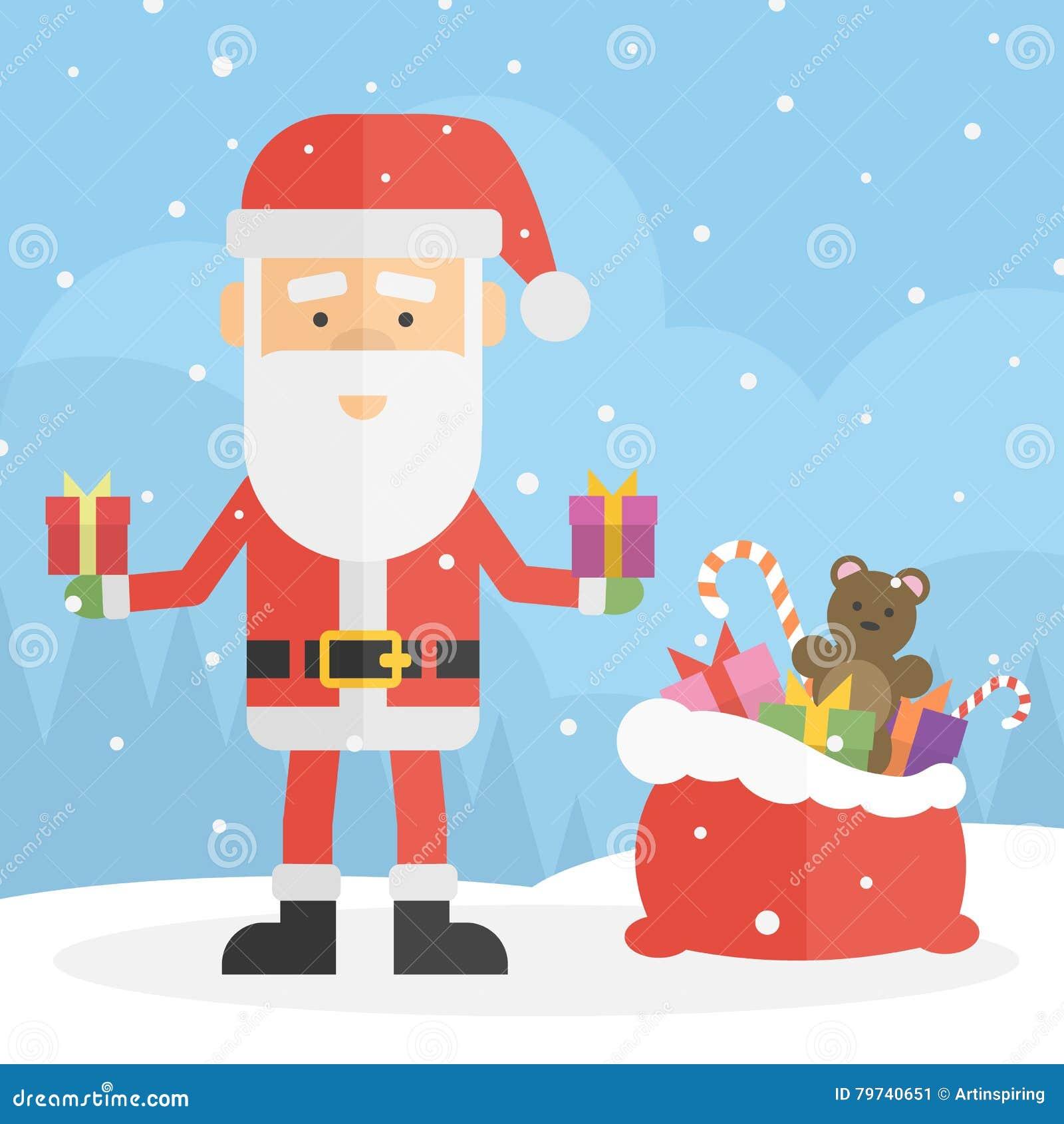 Papá Noel pintado a mano