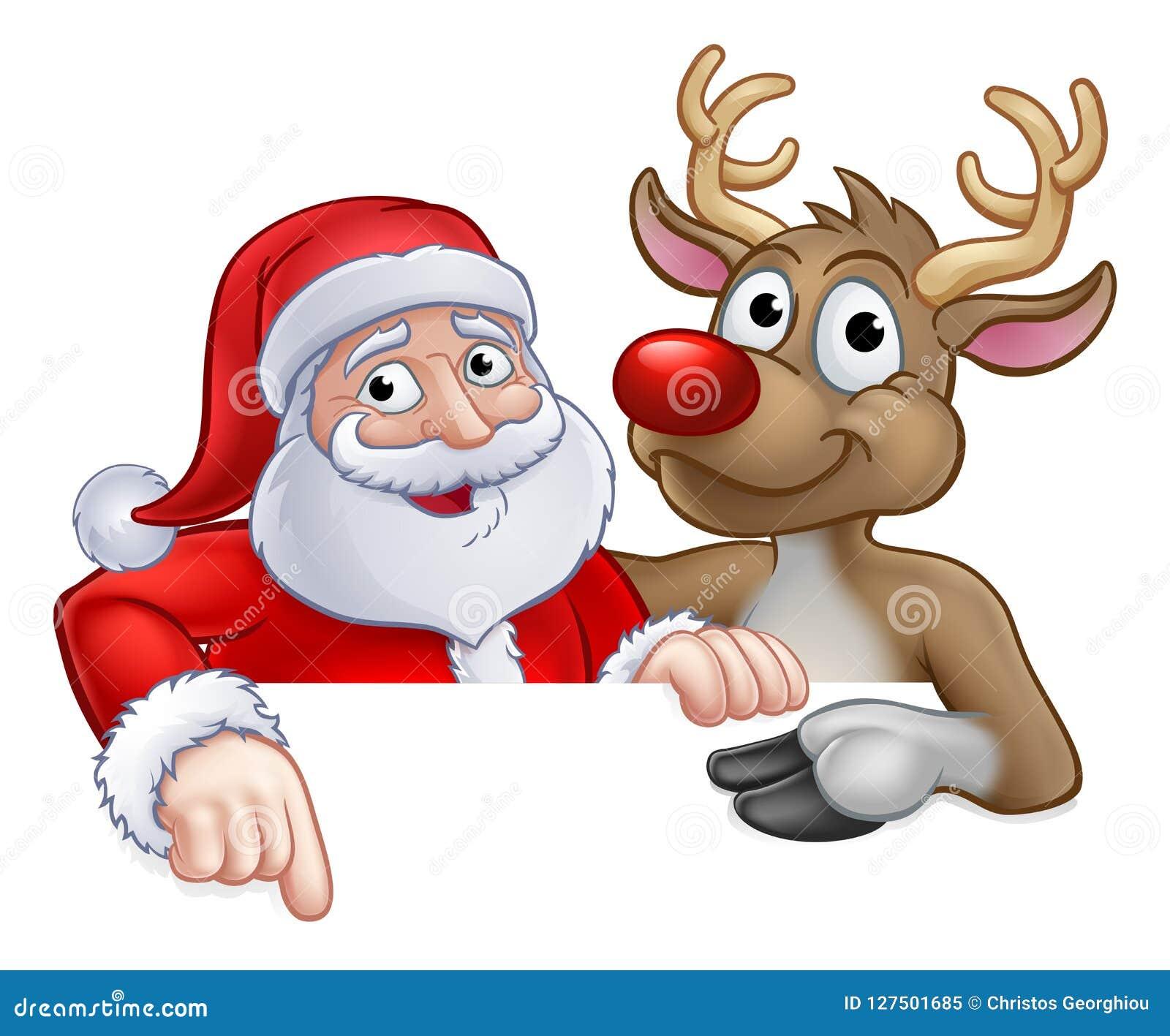 Imagenes De Papa Noel Animado.Papa Noel Y Personaje De Dibujos Animados De La Navidad Del