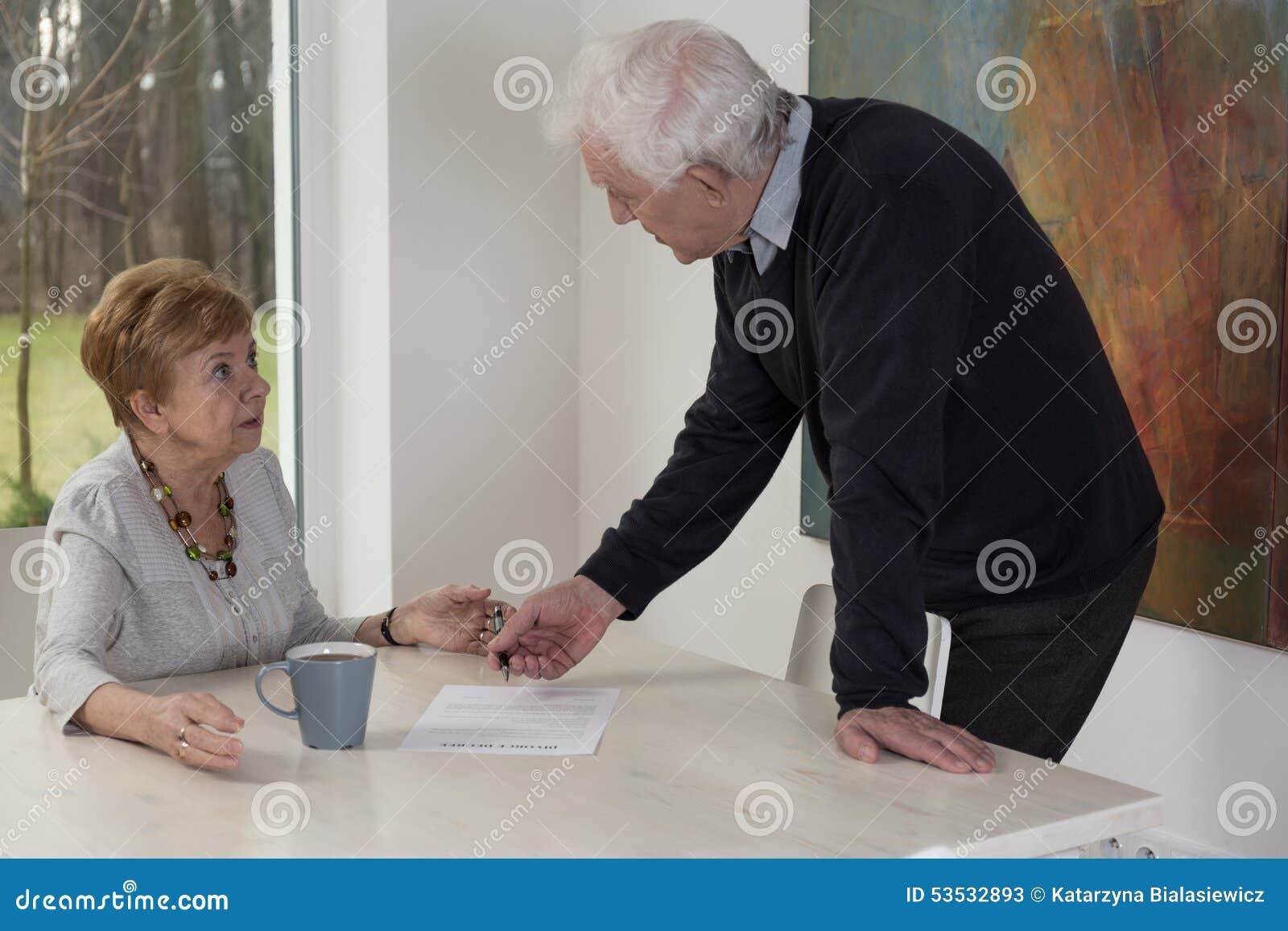 Papéis do divórcio
