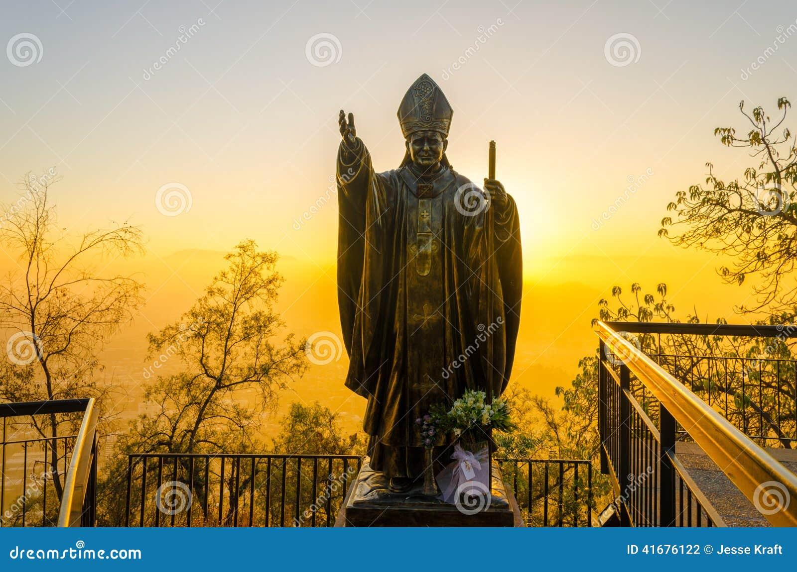 Papa Estátua no Santiago, o Chile
