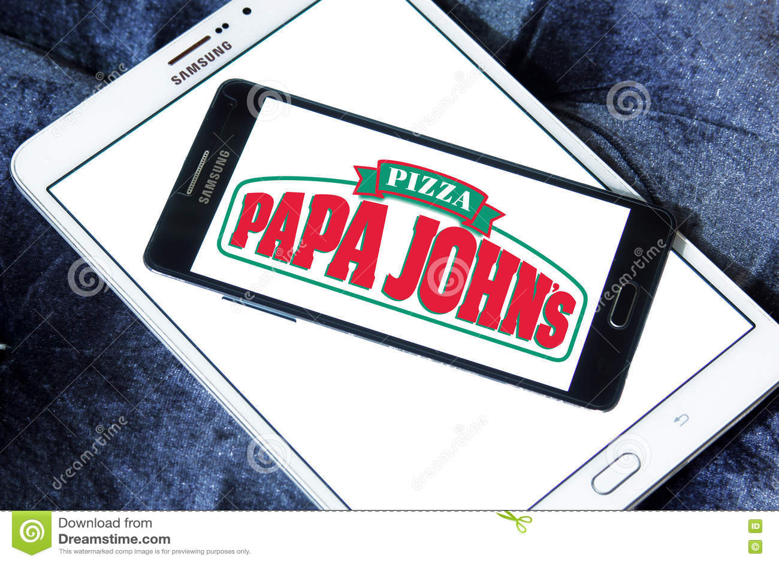 Papa johns pizza logo editorial stock photo. Image of mobile - 77058753