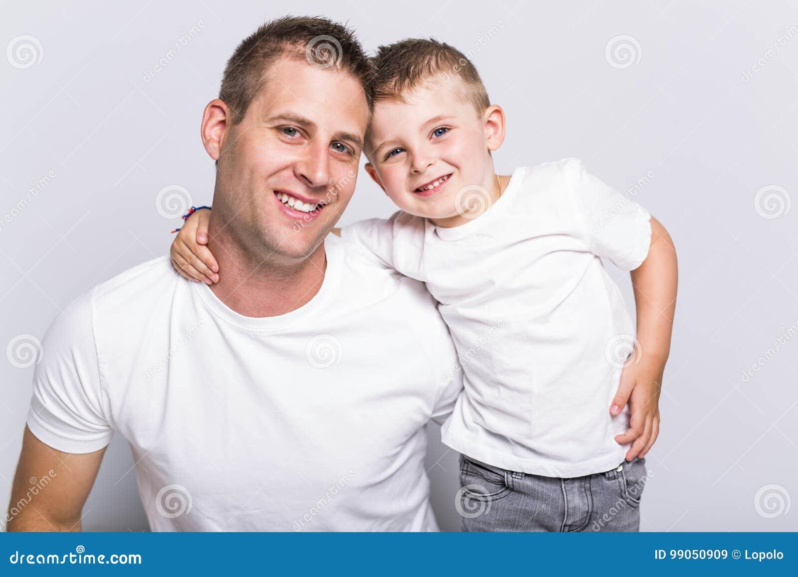 Papa met zoon