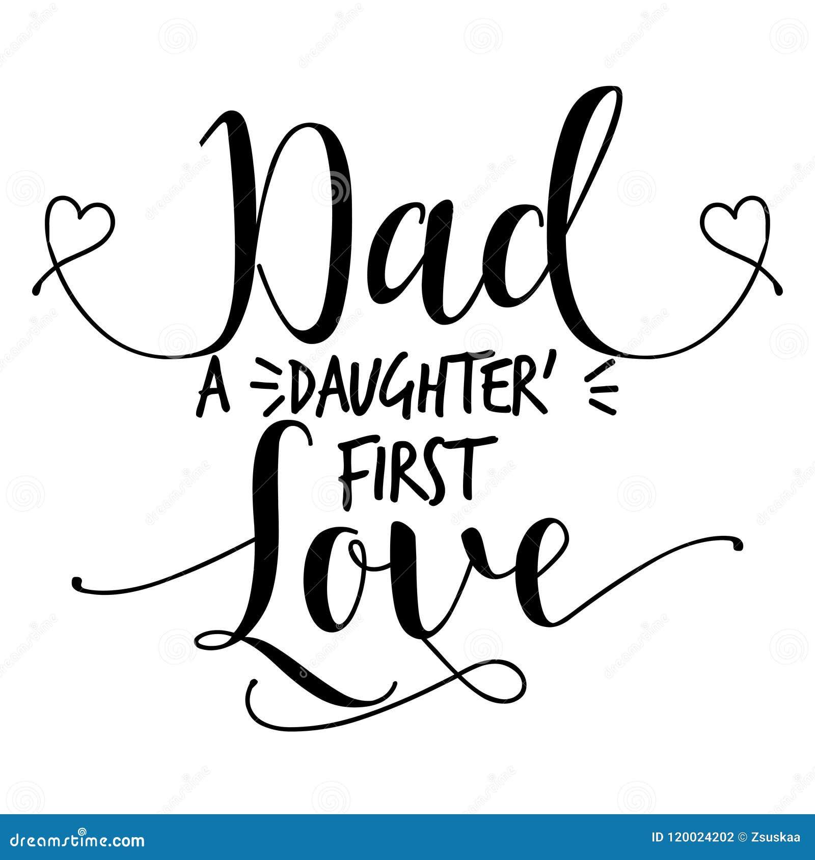 Papa Un Amour Du S Premier De Fille Illustration De