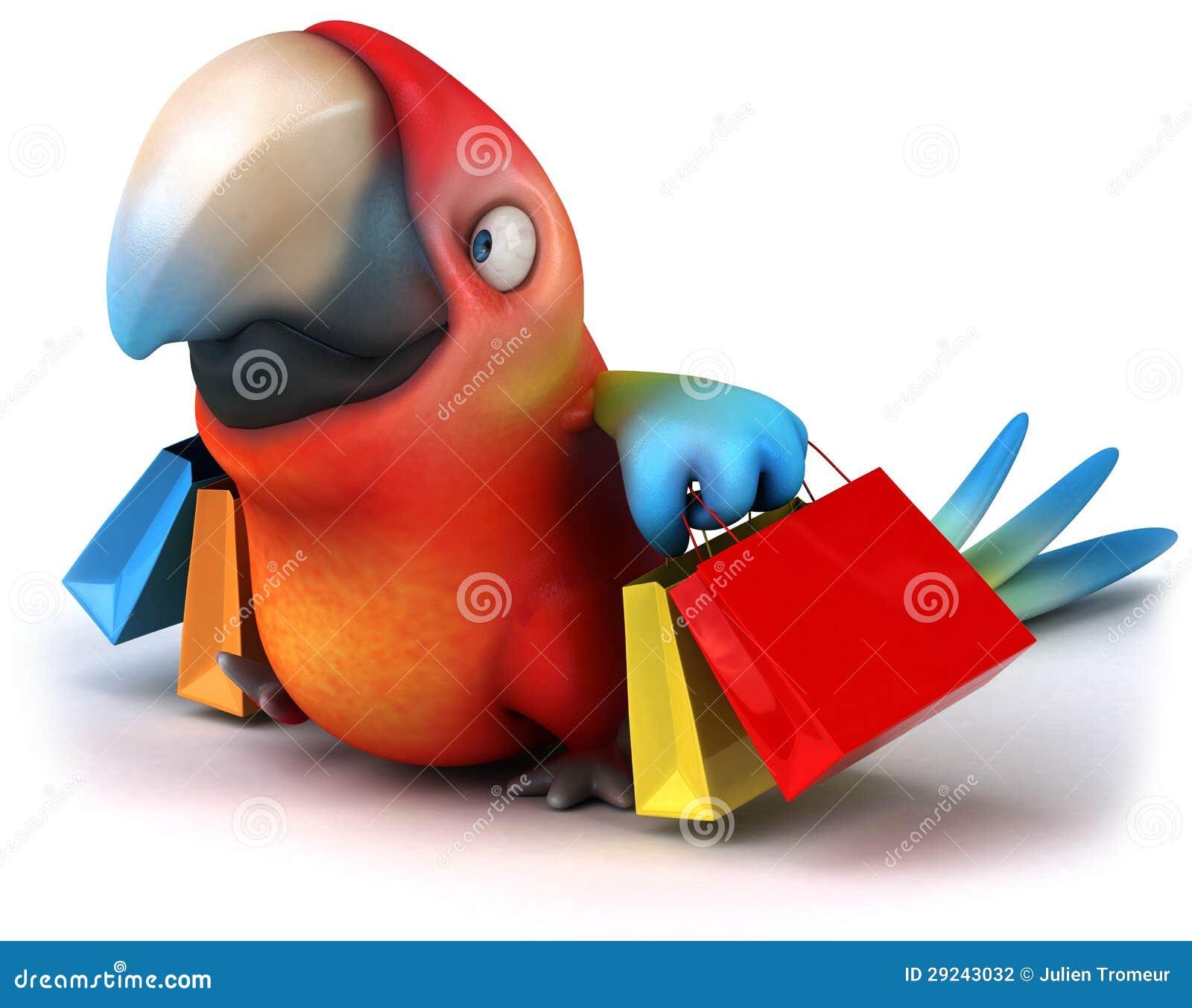 Download Papagaio ilustração stock. Ilustração de animal, consideravelmente - 29243032