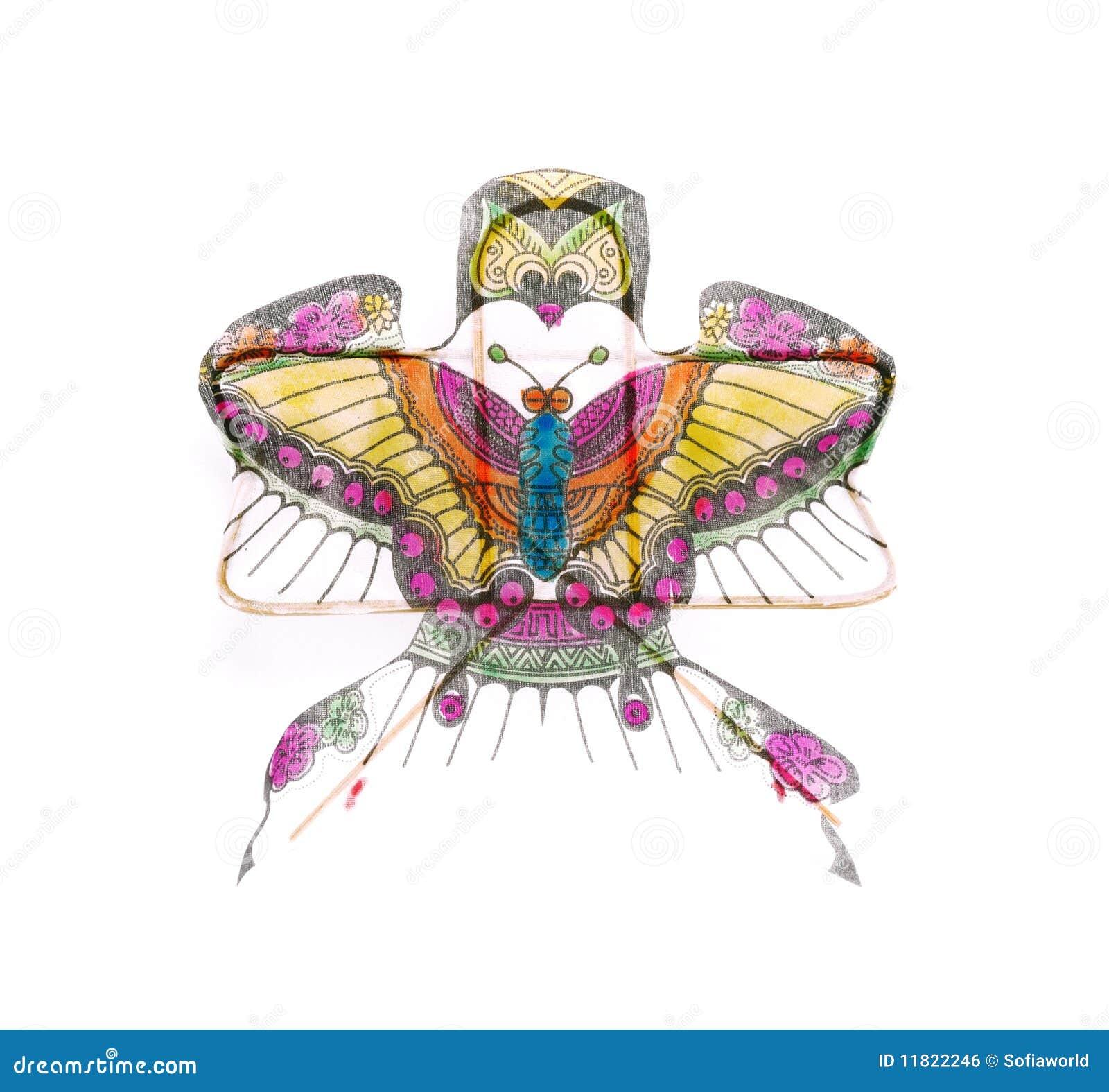 Papagaio chinês bonito do dragão isolado
