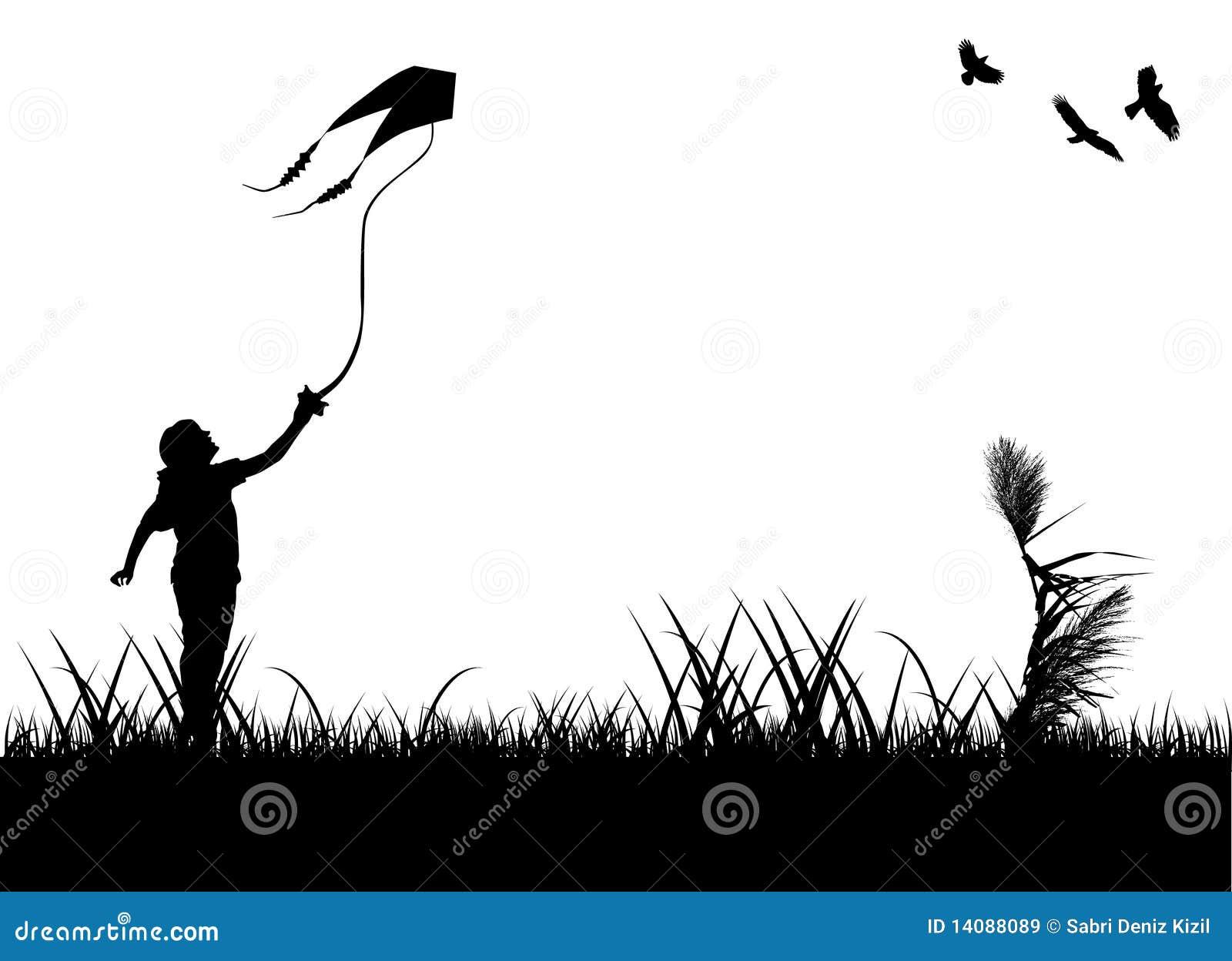 Papagaio do vôo do miúdo