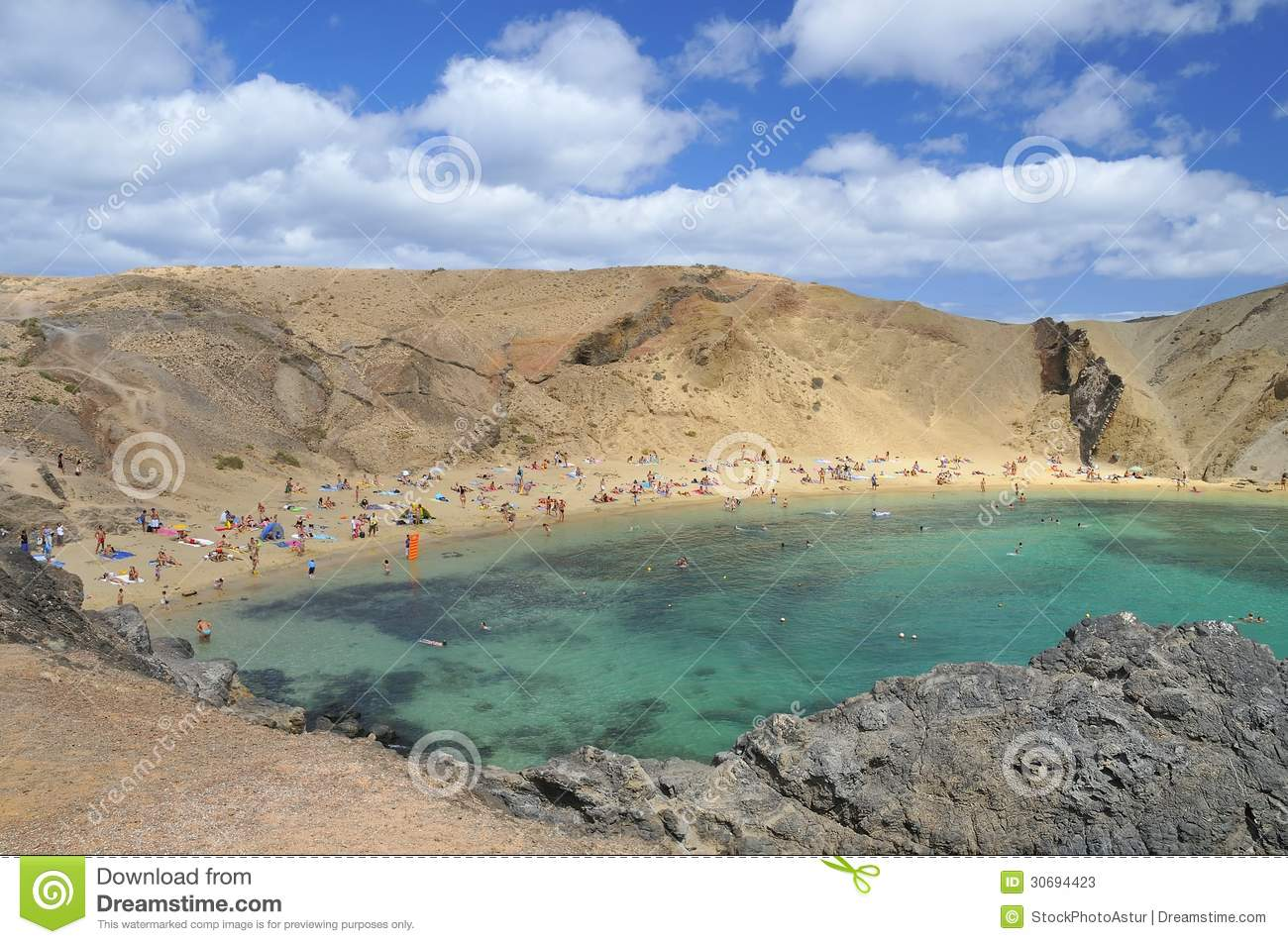 papagayo beach in lanzarote stock image image of natural canary 30694423. Black Bedroom Furniture Sets. Home Design Ideas